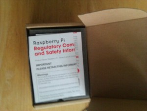 Opening the Raspberry Pi Box