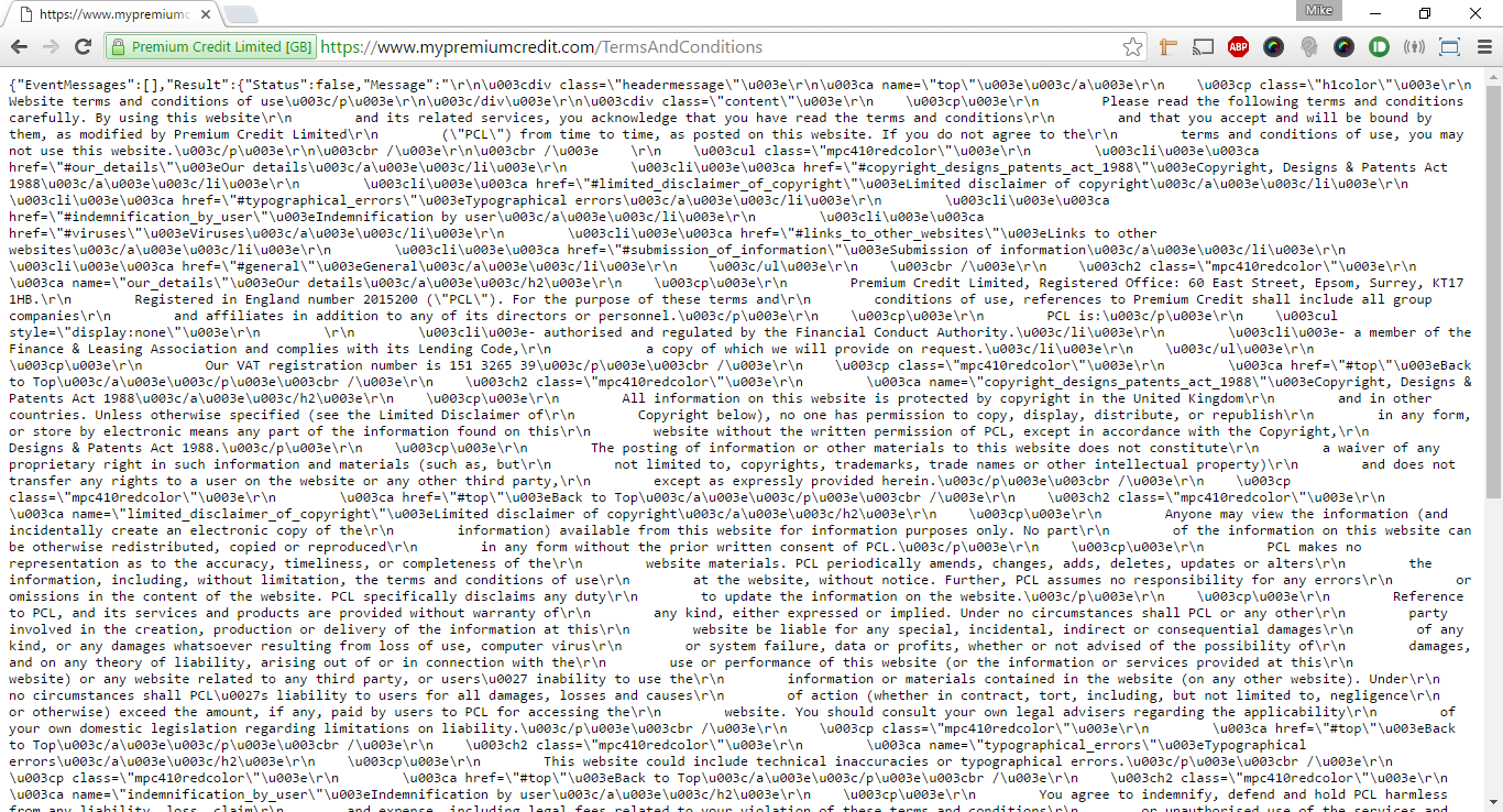 Whoops - Now - that looks like JSON.